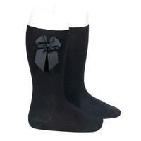 Condor Knee Socks With Bow Black