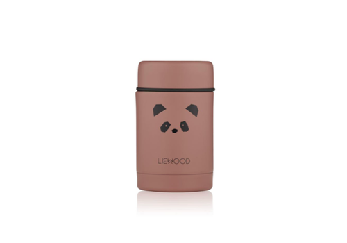 Liewood Liewood Nadja Food Jar Panda Dark Rose