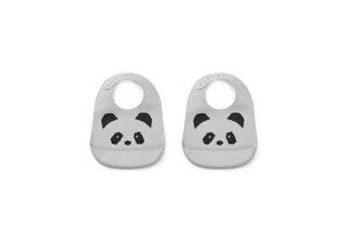 Liewood Liewood Silicone Slab Panda Dumbo Grey 2-Pack