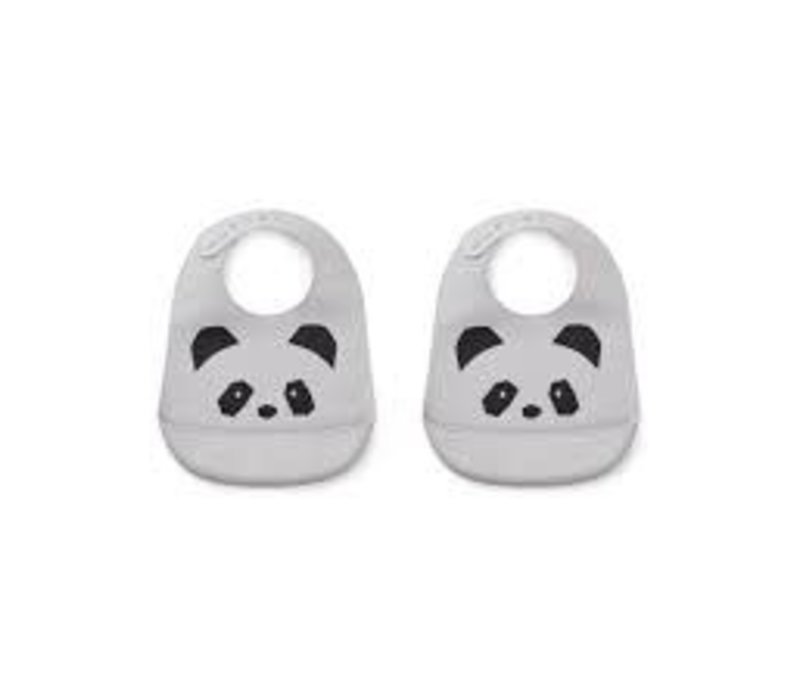 Liewood Silicone Slab Panda Dumbo Grey 2-Pack
