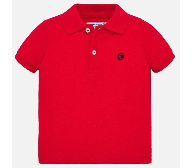Mayoral Basic s/s polo Hibiscus