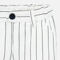 Short pants with laps White