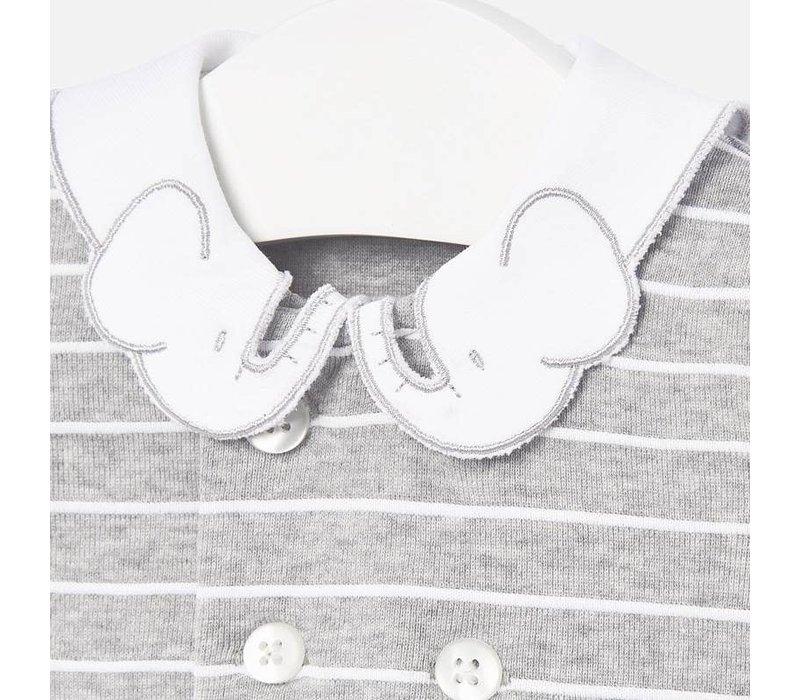 Formal knit jumper Gray
