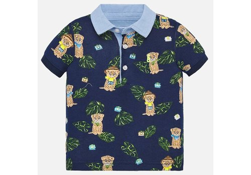 Mayoral Mayoral Polo s/s Large Print Sapphire