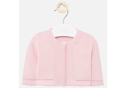 Mayoral Mayoral Basic knit long cardigan Baby Rose