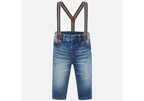 Mayoral Mayoral Denim pants with suspenders   Basic