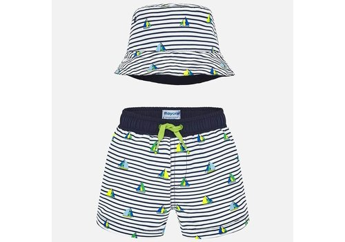Mayoral Mayoral Swimming Trunk Set Blue