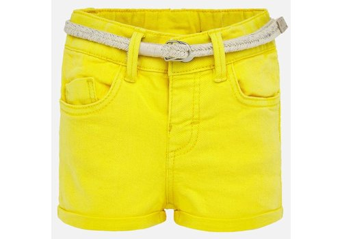 Mayoral Mayoral Basic twill shorts Yellow