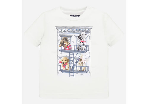 Mayoral Mayoral One hundred t-shirt s/s White