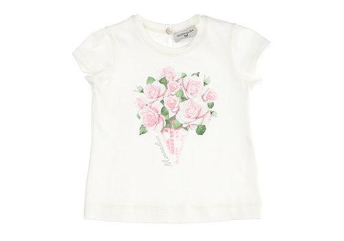 Monnalisa Monnalisa T-Shirt St.Cono Di Rose Panna