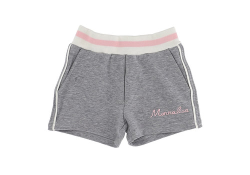 Monnalisa Monnalisa Shorts C/Piping Grigio