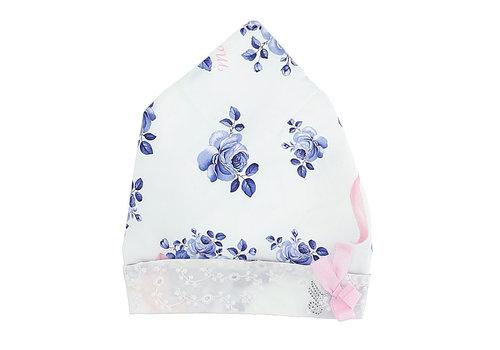 Monnalisa Monnalisa Bandana Stampa Rose Blu Bianco + Blu