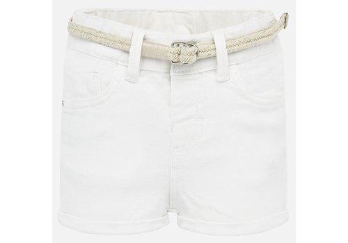 Mayoral Mayoral Basic twill shorts White