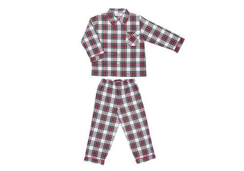 Cotolini Cotolini Pyjama Classique Garçon Mathieu W Tartan Blanc Vert