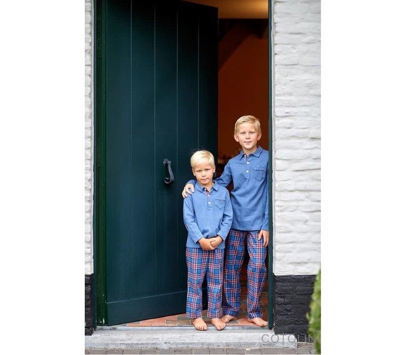 Cotolini Pyjama Marcel Flanelle Tartan Jeans