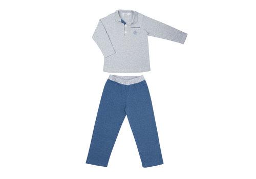 Cotolini Cotolini Pyjama Polo Long Cyrille Jeans Gris Chine