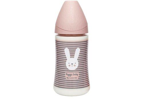 Suavinex Suavinex - HYGGE - Fles - Polyamide - Silc. - 3pos - 270ml - Pink Lines
