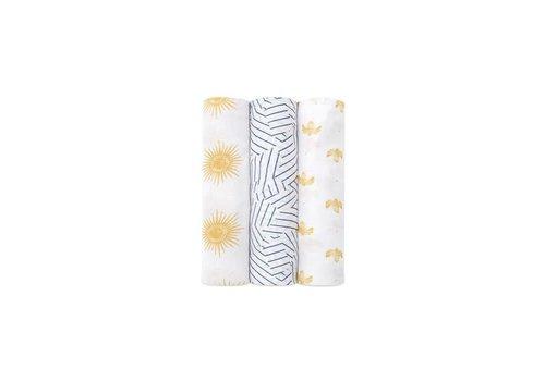Aden & Anais Aden + anais Silky Soft Swaddles Golden Sun 3 Pack