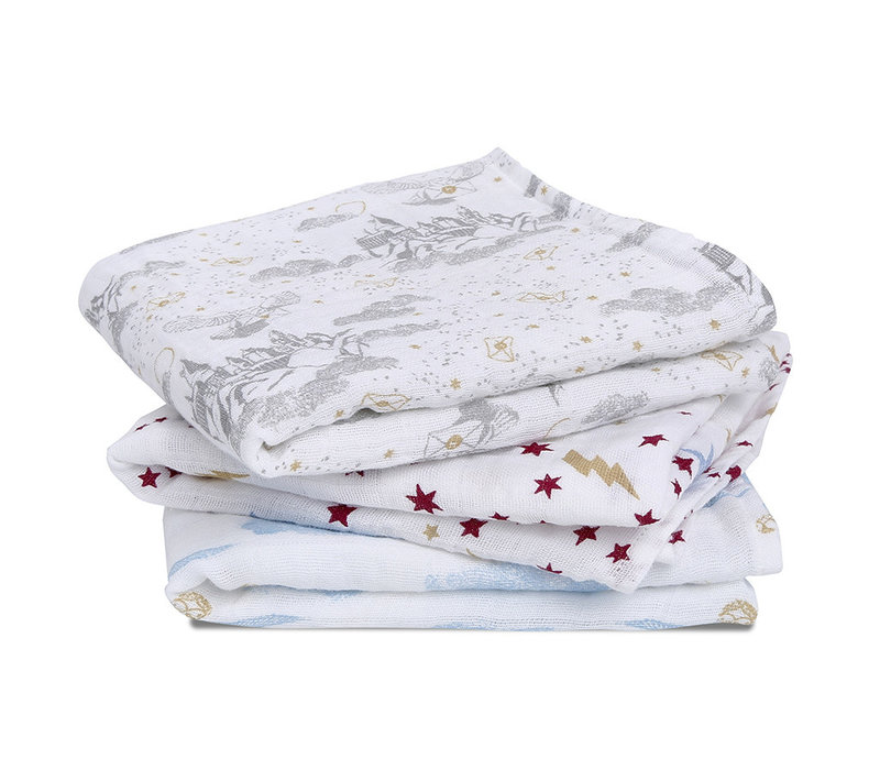 Aden + Anais Harry Potter Iconic 3-Pack Classic Muslin Squares