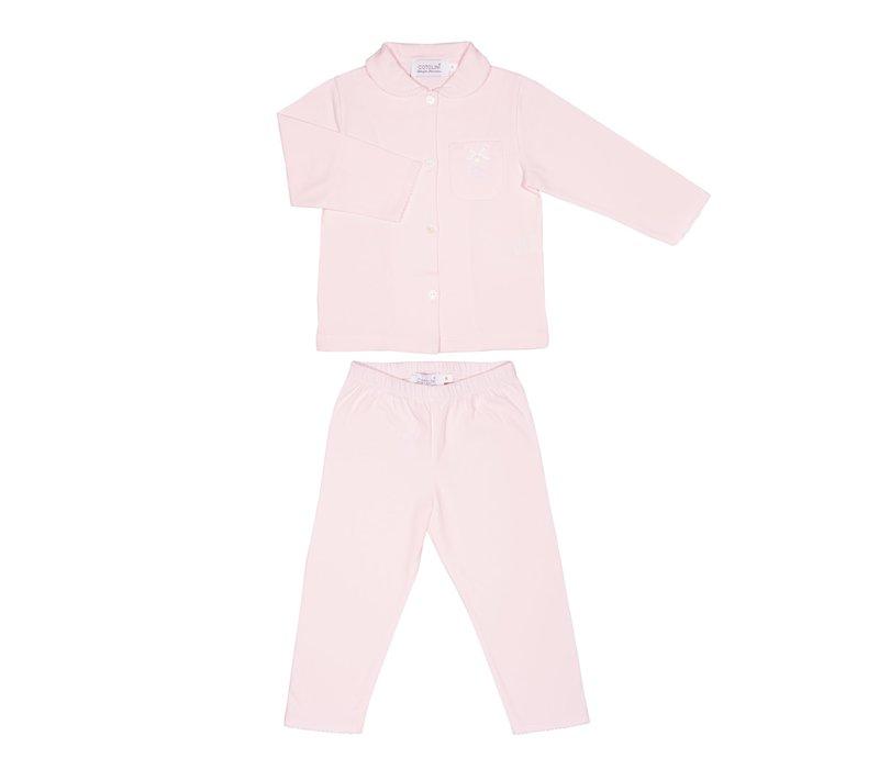 Cotolini Pyjama Fille Long Lalie S Long Rose/Rose Maille