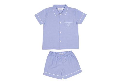 Cotolini Cotolini Pyjama Short Arthur Ciel Uni Pp Blanc Ciel Panama