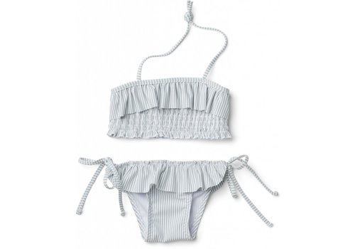 Liewood Liewood  Riley bikini set seersucker Sea blue/white
