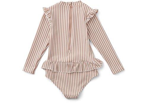 Liewood Liewood  Sille swim jumpsuit seersucker Coral blush/creme de la creme