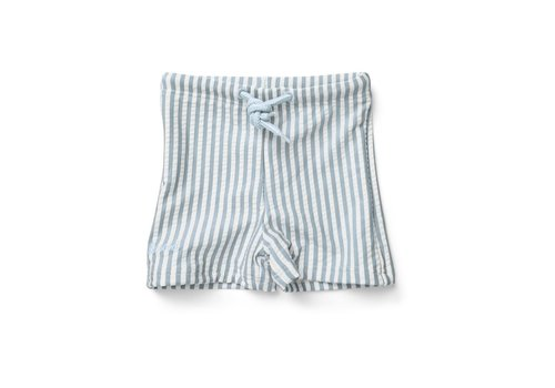 Liewood Liewood  Otto swim pants seersucker Sea blue/white