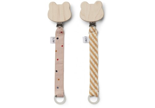 Liewood Liewood  Sia pacifier strap 2 pack Confetti mix