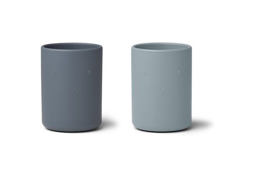Liewood Liewood Ethan cup - 2 pack Blue mix