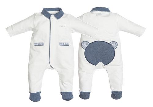 My First Collection First Pyjama Teddy Ruit Wit-Denim