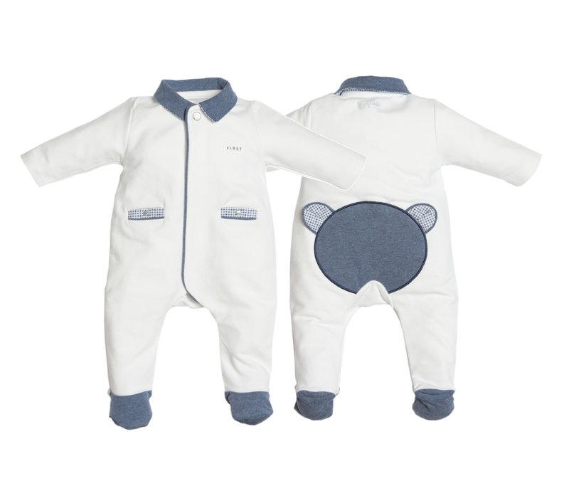 First Pyjama Teddy Ruit Wit-Denim