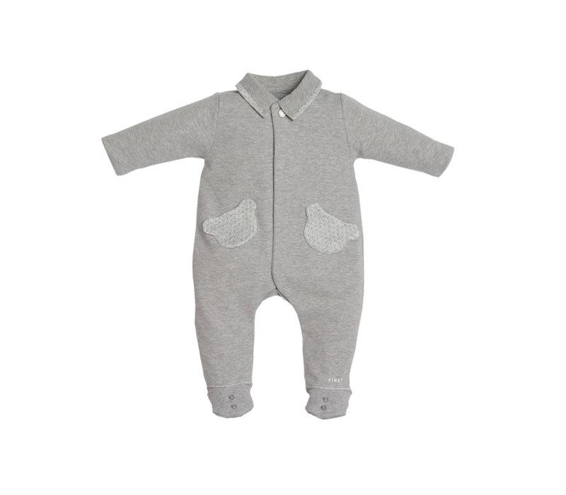 First Pyjama 2 Teddy Zakjes Grijs