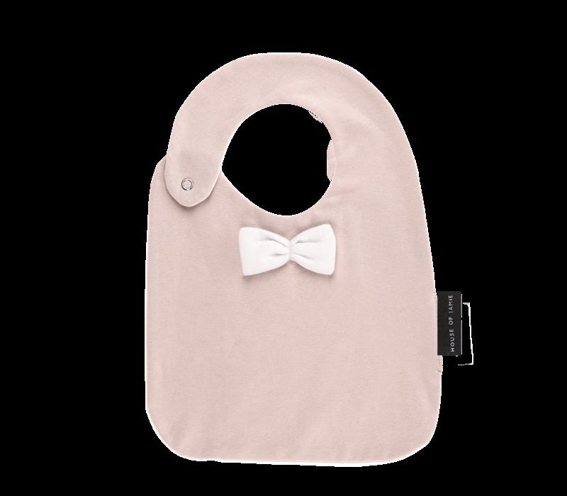 House Of Jamie Bow Tie Bib Powder Pink