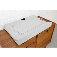 House of Jamie Changing Mat Cover Black & Stone