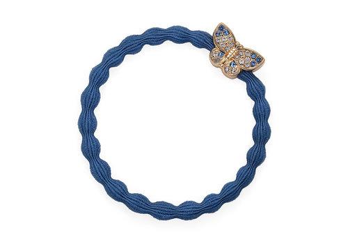 By Eloise Haarelastiek / Armband Bling Butterfly Dove Blue