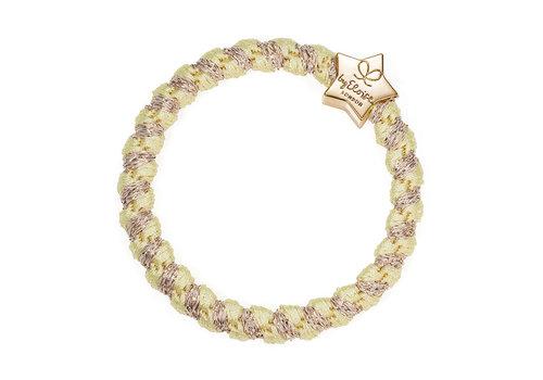 By Eloise Haarelastiek / Armband Woven Gold Star Lemonade