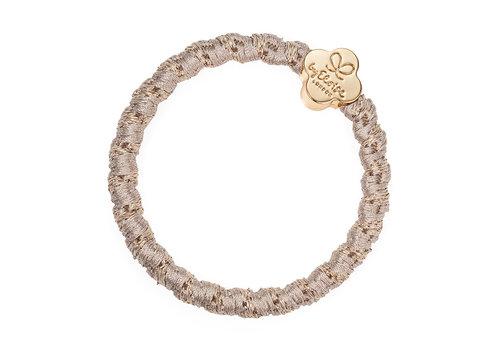 By Eloise Haarelastiek / Armband Woven Gold Quatrefoil Blonde