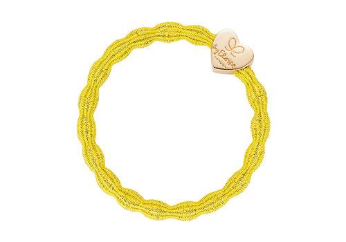 By Eloise Haarelastiek / Armband Gold Heart Sunshine Yellow