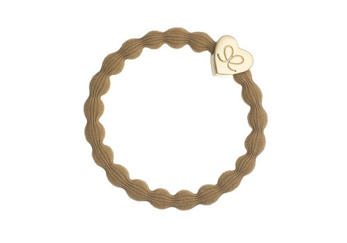By Eloise Haarelastiek / Armband Gold Heart Camel