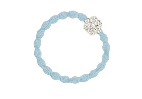 By Eloise Haarelastiek / Armband Bling Snowflake Sky Blue