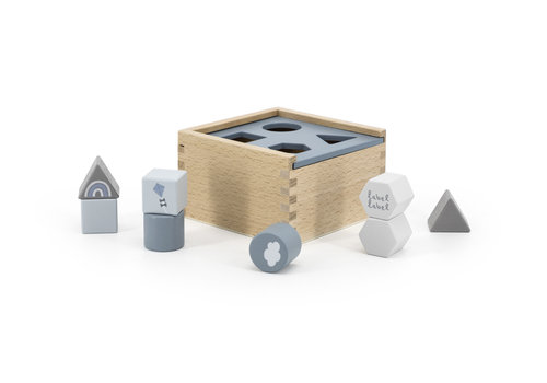 Label-Label Label-Label - Shape Sorting Box - Bleu