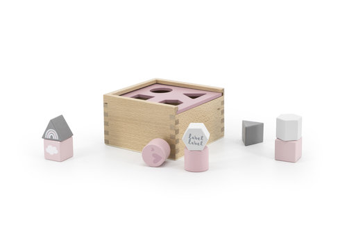 Label-Label Label-Label - Shape Sorting Box - Pink