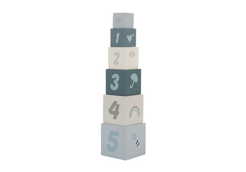 Label-Label Label-Label - Stacking blocks numbers - Bleu