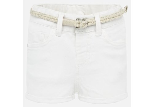 Mayoral Mayoral Basic twill shorts White