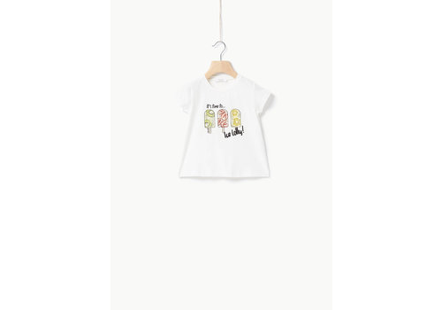 Liu Jo Liu Jo JERSEY CO/EA ICE LOLLY  - T-SHIRT OFF WHITE/ICE LOLLY