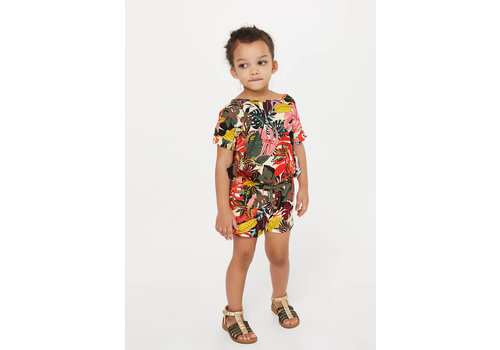 Liu Jo Liu Jo JERSEY VI/EA JUNGLE - DRESS LT.CITRON/JUNGLE