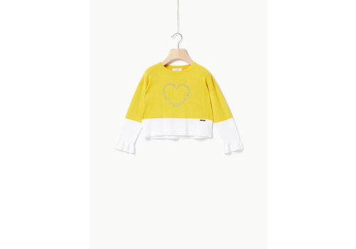 Liu Jo Liu Jo MG FIN.14 VI-PA PASTELS - SWEATER CITRON/OFF WHITE