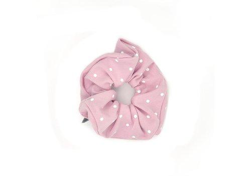 UL&Ka UL&KA Scrunchie Powder Pink With Dots