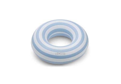 Liewood Liewood Baloo swim ring Stripe: Sea blue/creme de la creme